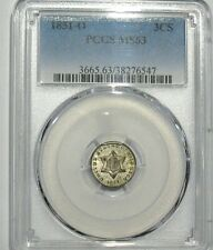 1851-O New Orleans 3 Cent Silver PCGS MS63