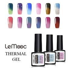 Lemooc 8ml térmica de color cambiante Esmalte en Gel Nail Art Barniz Uv Gel Empapa-apagado