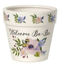 "Precious Moments ""Welcome Ba-Bee� Flower Pot 4� x 3.5� #171493 Baby Gift"