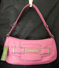 Charles David Rose Leather Baguette Shoulder Bag Purse