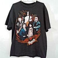 Aerosmith Steven Tyler Large Black World Tour Concert Graphic T-Shirt Tee 2009