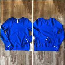 NWT Lululemon Mind Over Miles Long Sleeve Jet Stream Blue Size 4 Reflective Top
