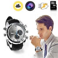 1080P SPY Watch Camera 32GB Waterproof Wrist Record Video DVR Night Vision RD