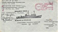Ship's Cover-Final science operations- Usns Robert D Conrad (T-Agor-5)-1989.