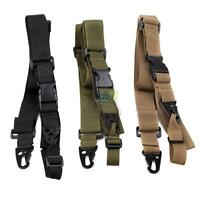 Adjustable 3 Point Army Tactical Rifle Gun Sling Hook Strap Outdoor Hunting