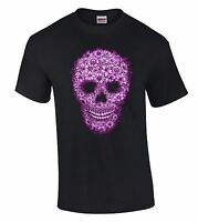 Flower Skull T-SHIRT Dia De Los Muertos Day Of The Dead Tee Gothic Mexican Death