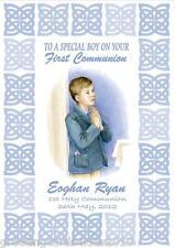 Personalised Boy Communion Card Design 1