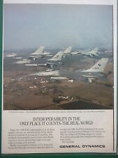 10/86 PUB GENERAL DYNAMICS F-16 DENMARK NORWAY BELGIUM NETHERLANDS AIR FORCES AD