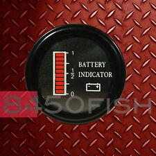 12 Volt EZGO Clubcar Yamaha Golf Cart  Battery indicator meter gauge, BDI