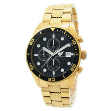 NEW EMPORIO ARMANI AR5857 GOLD MENS CHRONOGRAPH WATCH - 2 YEARS WARRANTY