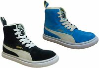 Puma Dr Clyde Mashup Womens Hi Top Trainers Suede Blue Black 351729 03 / 04