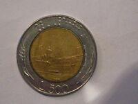 500 lire 1987 variante ruotata di 90°