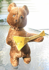 antique wind up dancing mandolin playing bear