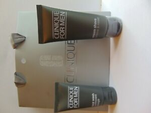 Clinique for men 30ML face wash & 60ML CREAM SHAVE SET- with gift bag