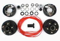 """Add Electric Brakes to trailer Complete Dexter kit 2000 Axle 5 Lug 5x4.5 7"""" Drum"""