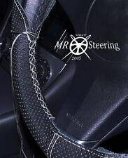 Para 00+ Mercedes W203 Cubierta del Volante Cuero Perforado Gris doble puntada
