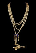 ANTIQUE GEORGIAN LONG GUARD CHAIN HEART SLIDER GOLD SILVER 1800 MAYORS CHAIN