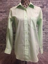 Foxcroft Wrinkle Free Mint Green Button Front Left Pocket Womens Sz. 8 Blouse