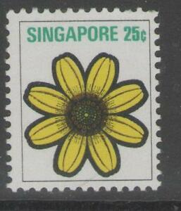SINGAPORE SG217 1973 25c FLOWERS & PLANTS MNH