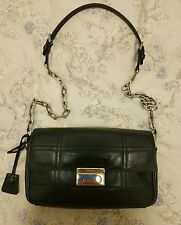 $2200 Prada Black Quilted Saffiano Leather Chain Flap Crossbody Shoulder bag