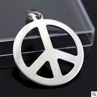 NEW peace woman's Men's Silver 316L Stainless Steel Titanium Pendant Necklace