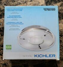 """Kichler 12"""" Chrome Modern Contemporary LED Flush Mount Light Chrome 0760189"""
