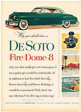Vintage 1952 Magazine Ad For De Soto Fire Dome 8 And Keds For Summertime
