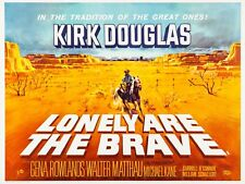 """LONELY ARE THE BRAVE 1962 Kirk Douglas Repro UK 30""""x 40"""" quad poster FREE P&P"""