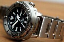 NEW SEIKO BLACK SHROUDED MONSTER BABY TUNA DIVER'S WATCH SRP637 SRP637K1