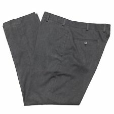 TOMMY HILFIGER Mens 36/30 Gray Heather Flat Front Polyester Dress Pants/Trousers