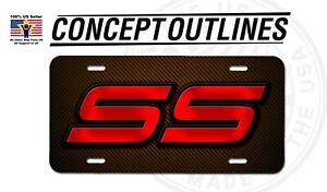 Chevy SS Super Sport Premium Aluminium License Plate Tag For Car