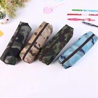 Camouflage Combat Army Green Pencil Pen Case Boys Kids School College Hot Sale