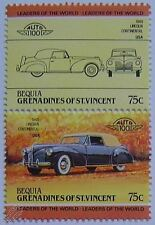 1940 LINCOLN CONTINENTAL Car Stamps (Leaders of the World / Auto 100)