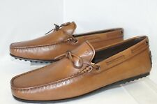 New Tod's Mens Brown Shoes Loafers Laccetto City Gommino Size 7 Drivers