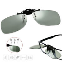 Polarized Photochromic Sunglasses UV400 Car Driving Fishing Lens Clip On Eyewear