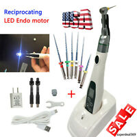 Dental LED Wireless Endodontic Endo Motor 16:1 Contra Angle Root Canal Treatment