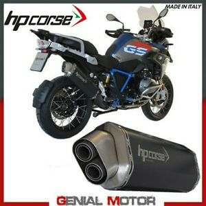 Exhaust Hp Corse 4-Track Black Bmw R 1200 Gs 2013 > 2018