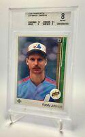 🔥 1989 Upper Deck #25 Randy Johnson BGS 8 NM-MT Rookie HOF Montreal Expos 🔥