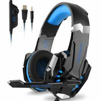 EACH G9000 Stereo Gaming Headset for PS4 Xbox One Over Ear Headphones with Mic