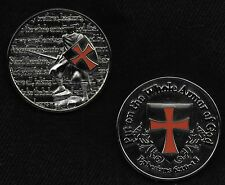 ARMOR OF GOD Spartan Crusader Cross Shield Ephesians 6:10-18 Challenge Coin