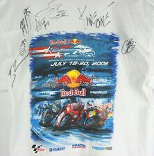 Signed Red Bull Grand Prix Mazda Raceway Laguna Seca 2008 Shirt Large Motorcycle