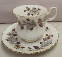 Vintage Royal Albert Lorraine Demitasse Cup & Saucer c1960s-70s Made in England