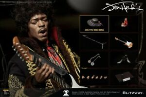 Blitzway 1/6 BW-UMS 11201 - Jimi Hendrix + Bonus Hat NIB - US Seller INSTOCK