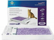 Scoop Free Litter Cat Box One Tray Refill Lavender Non Clumping Crystals Petsafe