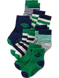 Old Navy Infant/Baby Socks Printed Green/Blue by 6's (GBSK 22) Size: 6-12 months