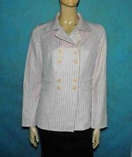 veste PAUL & JOE rose pale rayé  en lin et coton taille 38 fr tres bon etat