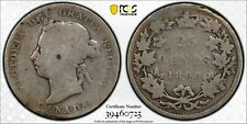 Weeda Canada 1893 silver quarter, key date, PCGS certified G detail, rim damage