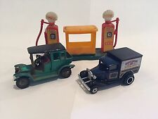 Matchbox Yesteryear 1910 Benz Limousine Green and Ford Model A Speedshop Truck