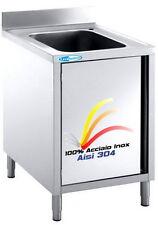 Lavello cm 70x60x85  100% Acciaio Inox AISI 304 Lavatoio 1 Vasca  Professionale