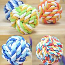 H Pet Puppy Chew Toy Clean Teeth Bone Dog Cotton Rope Ball Play Braided Knot Fun